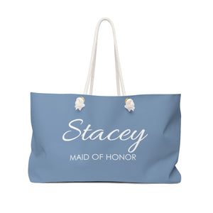 Personalized Maid Of Honor Weekender Bag - Colbalt