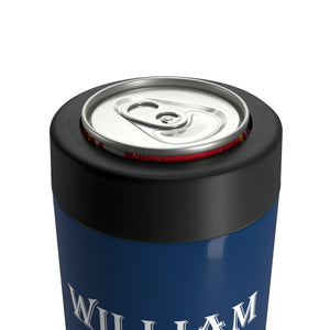 Copy of Personalized Groom Stainless Steel Can Holder - Dark Gray & White
