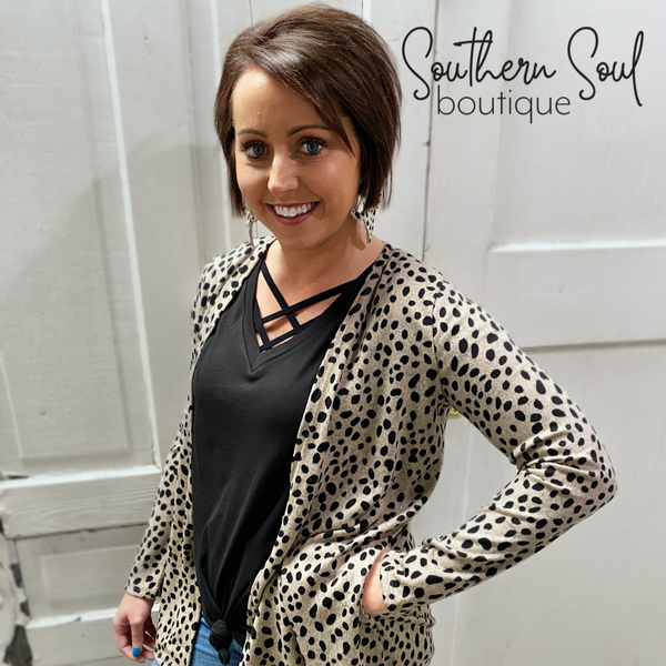 Leopard Spotted Short Cardigan