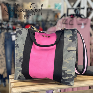 Camo and Pink Tote Bag