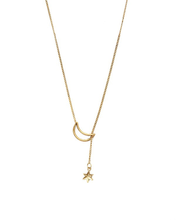 Star Pass Through The Moon Necklace