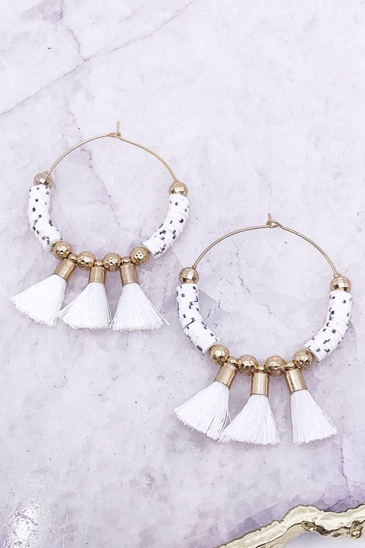 Hoop Tqassel Earrings