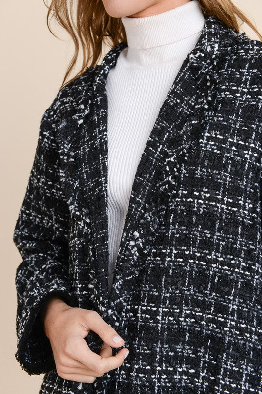 Black & Ivory Tweed Jacket