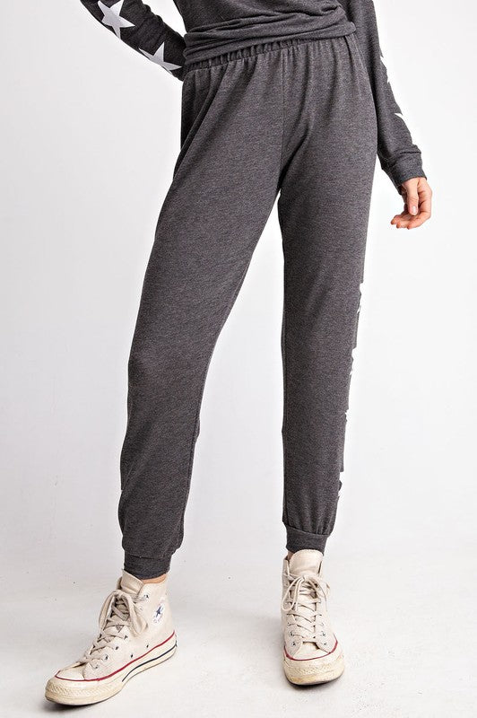 French Terry Ruffle Sweatpants