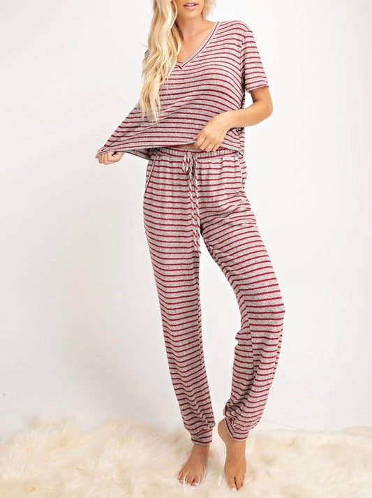 Stripe Top & Jogger Set