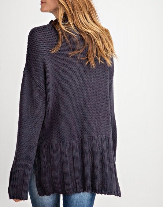 Sweater Knit Tunic Pullover Top