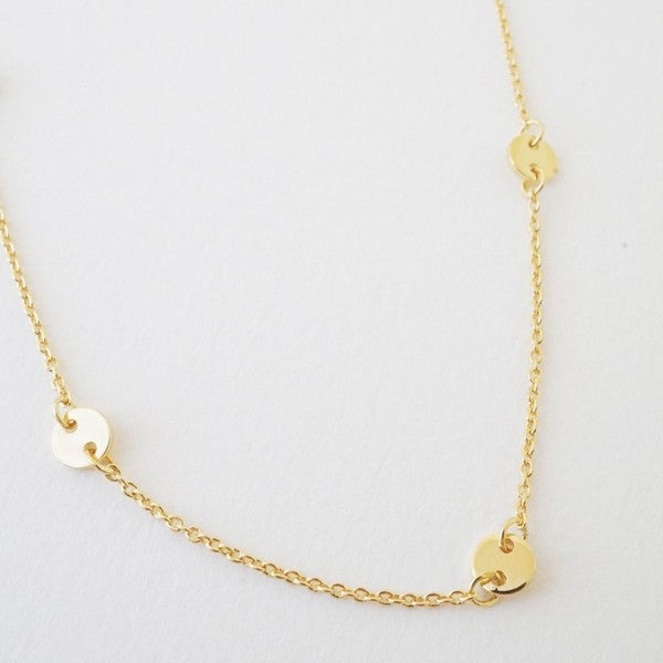 Disk Chain Dainty Necklace
