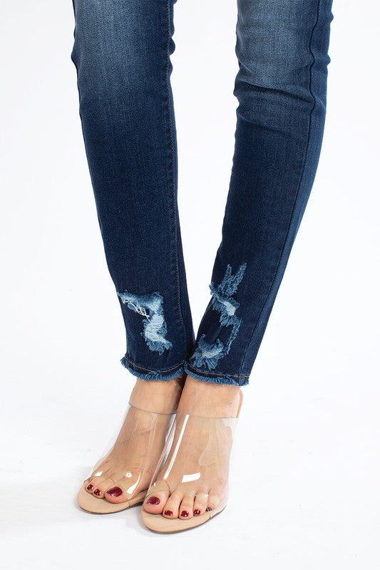 Medium Rise Medium Wash Skinny Jeans