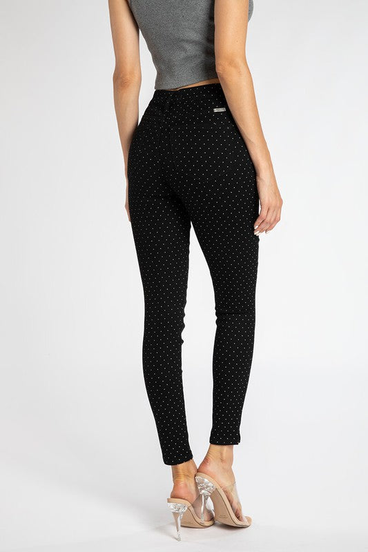 High Rise Polka Dot Skinny