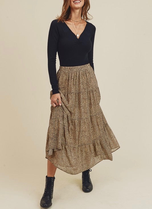 Cheetah Print Maxi Skirt