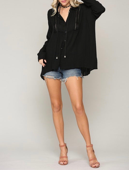 Button Down Oversized Top
