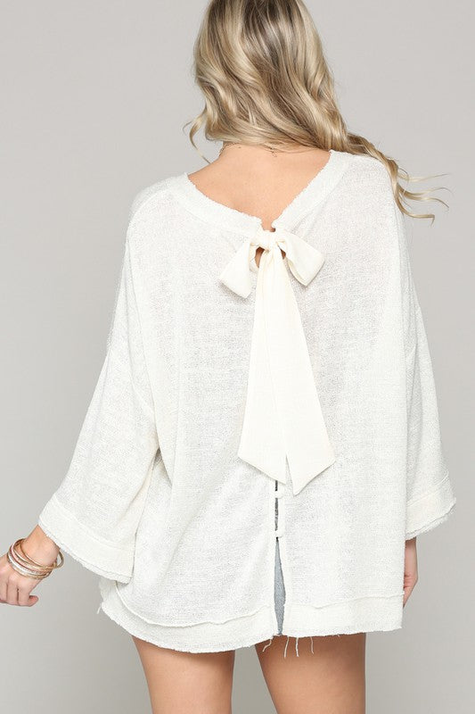 Back Ribbon Top