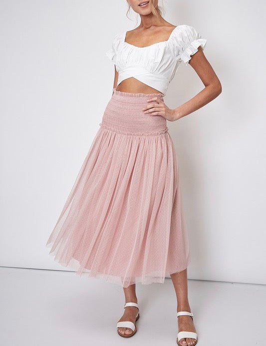 Dusty Rose Tulle Dress