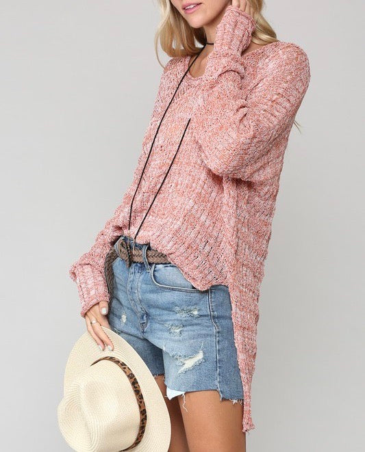 Pointelle Sweater Top