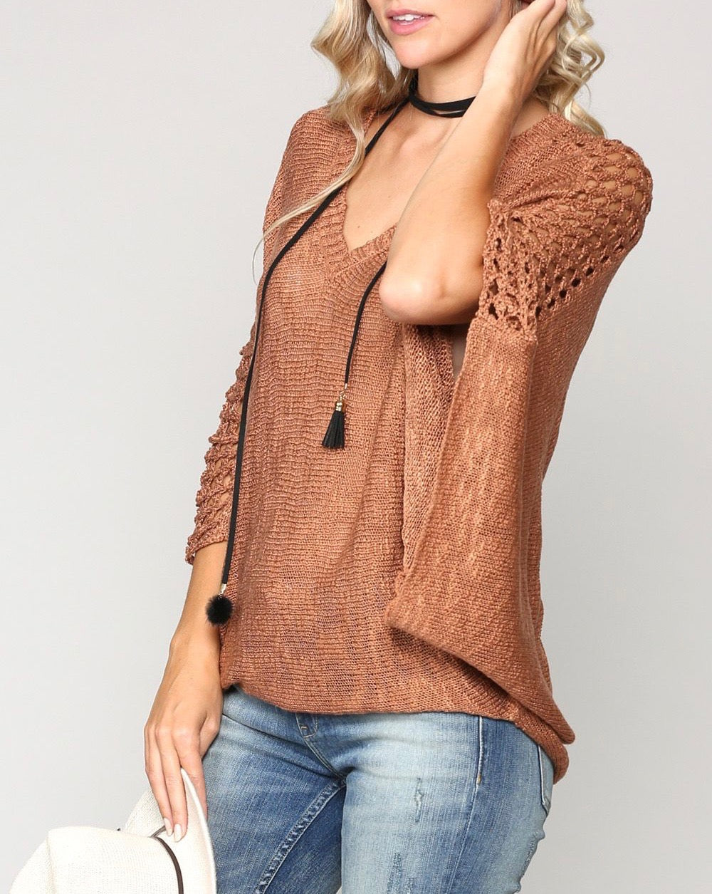 Camel Knit Top