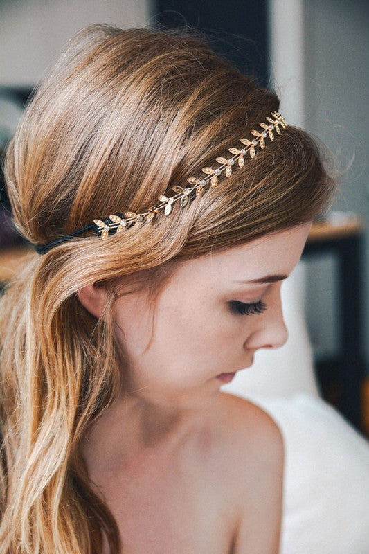 Bohemian Gold Leaf Toga Headband