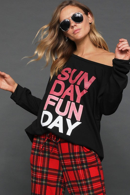 SUNDAY FUNDAY Graphic Tee