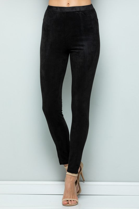 Faux Suede Pants