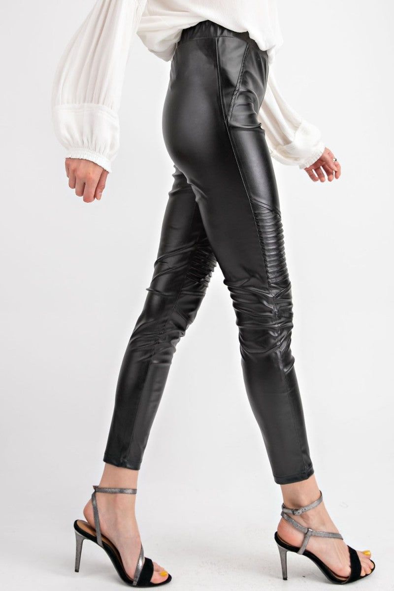 Moto Faux Leather Skinny Pants
