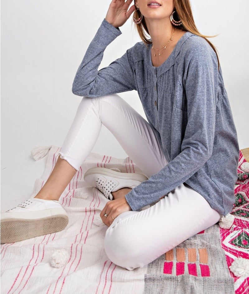 Knit Long Sleeve Tunic Top