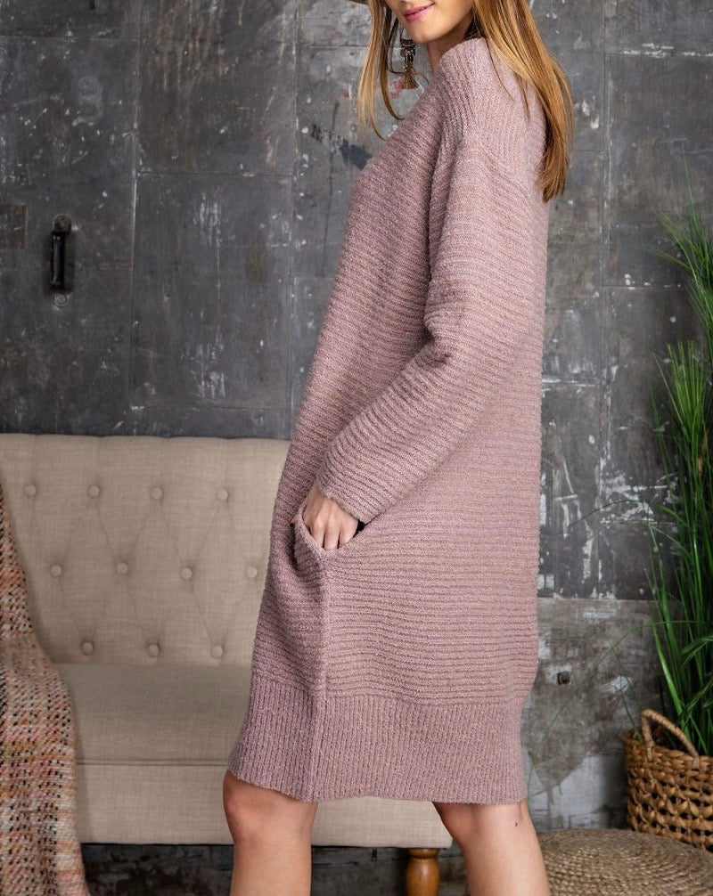 Oversized Sweater Tunic Dress