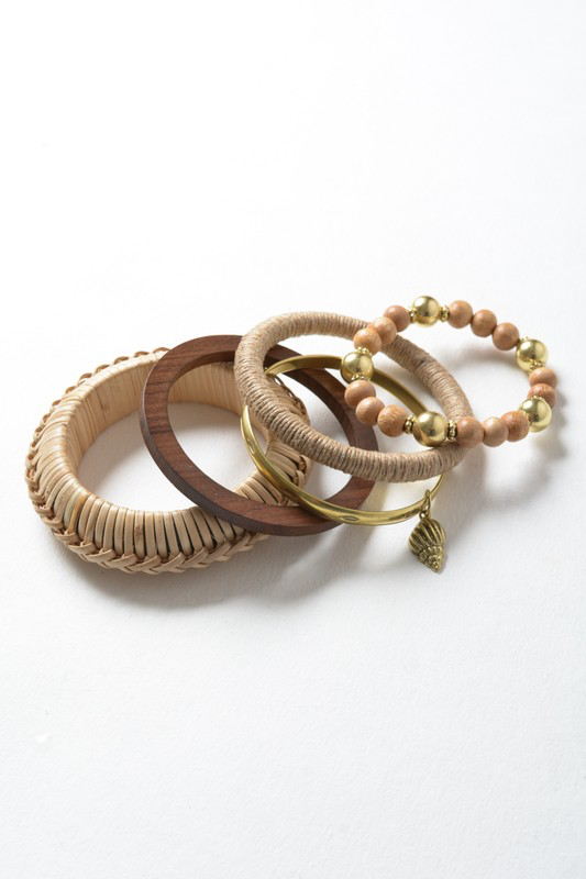 Multilayer Bohemia Bangle Set