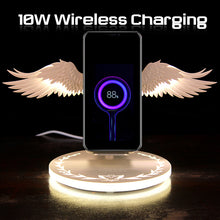Laden Sie das Bild in den Galerie-Viewer, 10W Qi Wireless Charger Angel Wings