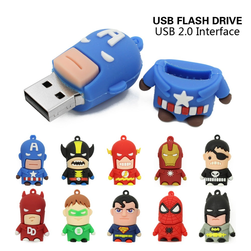 Superhelden USB Sticks/Anhänger (32,64,128,256 GB)