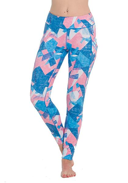 Geometry Pattern Printed Pocket Leggings