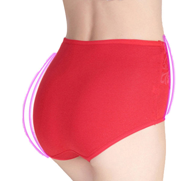 High Cut Pure Cotton Super Elastic Embroider Body-shaping Panties