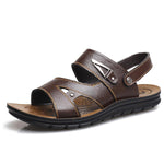 Men Opened Toe Leather Hook Loop Water Friendly Casual Sandals