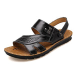 Men Genuine Leather Opened Toe Soft Sole Water Friendly Sandals