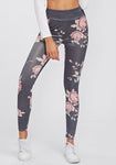 Floral Panel High Waist Sports Leggings