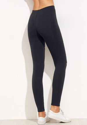 Ripped High Waist Capri