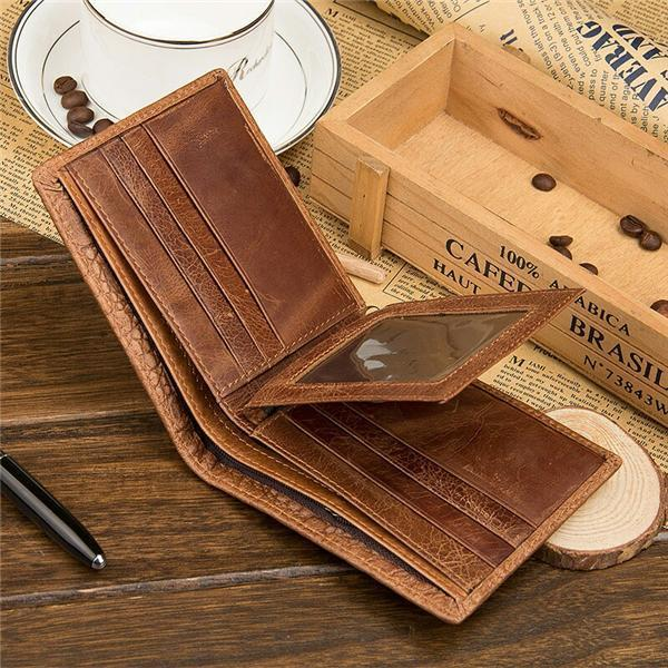 Man's Crocodile Genuine Leather Wallet Vintage Casual Coin Purse Storage Bag