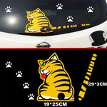 Car Rear Window Wiper Sticker Cat Tail Decal