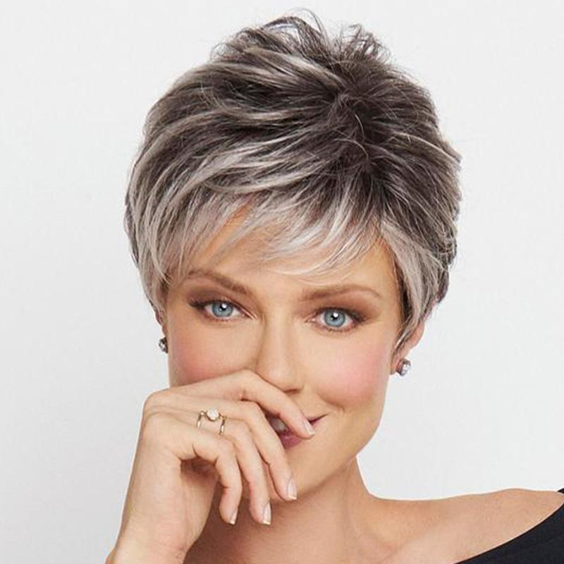 FAVORRY-JF003-LACE FRONT SHORT WIG (5 COLOR)