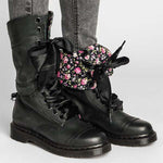 Vintage Chunky Heel Lace-up Leather Daily Boots