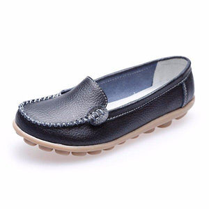 Casual Soft Sole Pure Color Slip On Flat Shoes Loafers