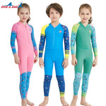 Kids Colorful Wetsuit Long Sleeve UV Protection Thermal Swimwear