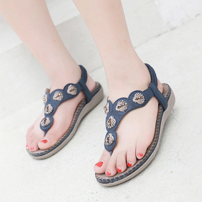 Large Size Seashell Elastic Sandals