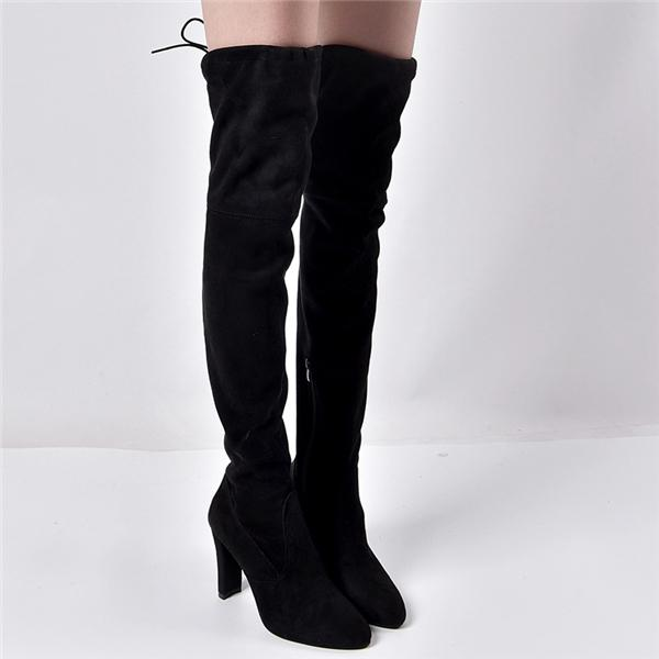 Women Boots Black Over the Knee Boots Sexy Autumn Winter Thigh High Boots
