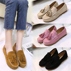 Women  Flats Loafers Casual Comfort Tassel Slip On Shoes