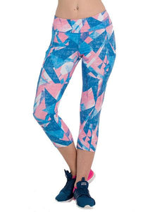Geometry Patterns Printed Pocket Capris