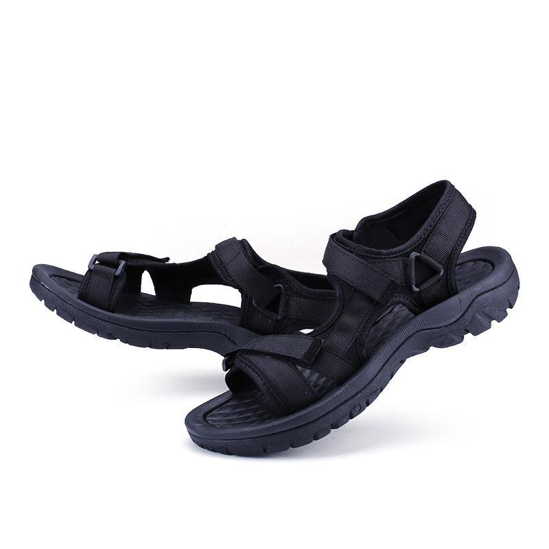 Men Webbing Belt Hook Loop Comfrotable Sole Casual Sandals