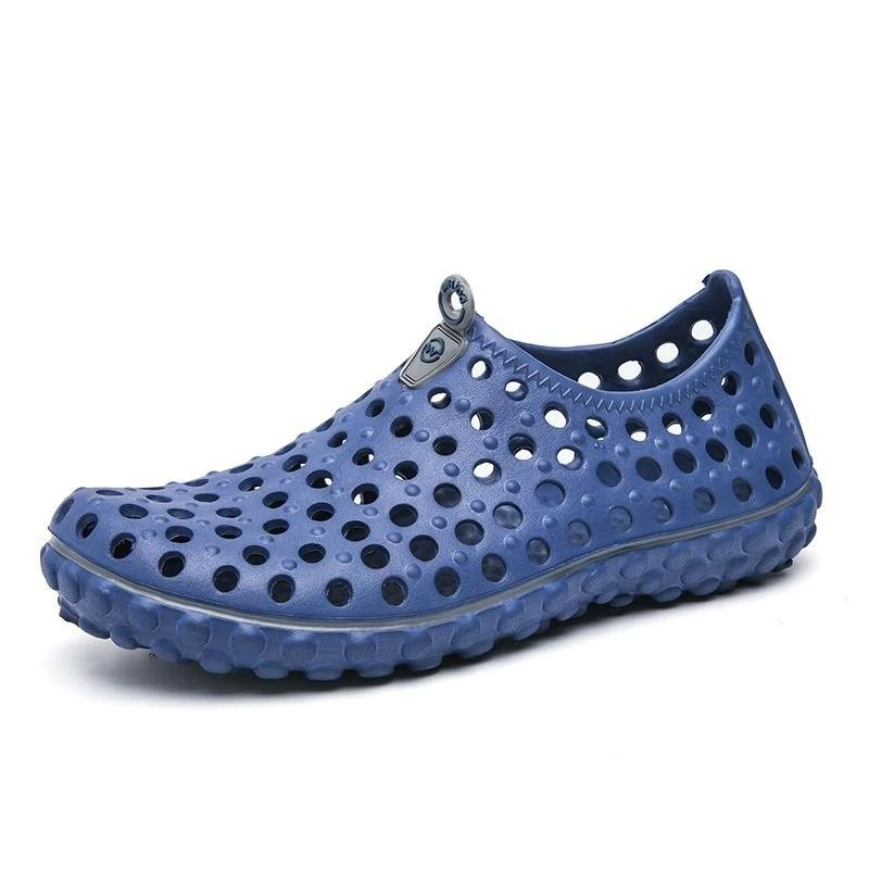 Men Soft Hollow Out Beach Sandals Outdoor Garden Casual Waterproof Shoes
