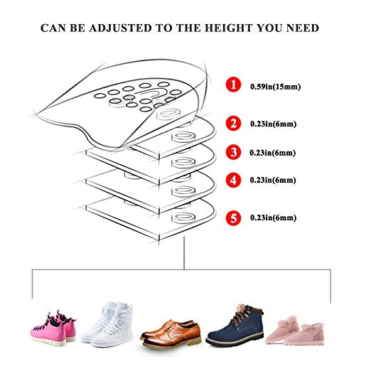 Height Increase Shoe Inserts
