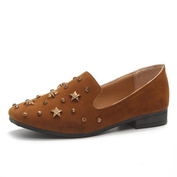 Star Metal Rivet Decoration Casual Flat Loafers