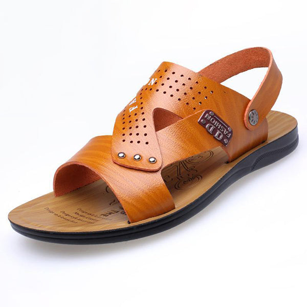 Men Microfiber Leather Breathable Beach Sandals