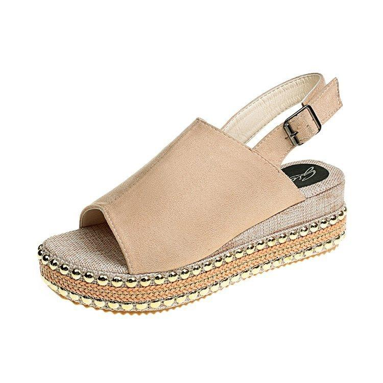 Roman Slingback Peep Toe Buckle Casual Sandals